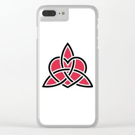 Triquetra Knot With Heart Symbol Clear iPhone Case