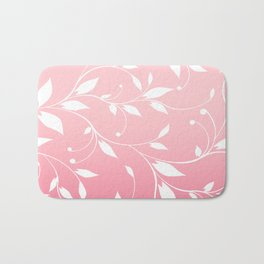 FLOWERY VINES | pink white Bath Mat
