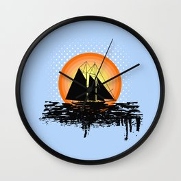 Grunge sailing Wall Clock