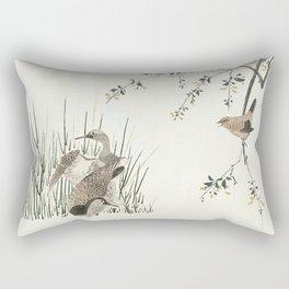 Watching the ducks Rectangular Pillow