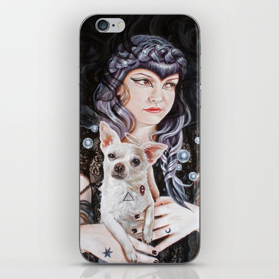 She Brings the Night iPhone & iPod Skin