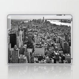 New York City black & white Laptop & iPad Skin