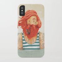 clouds iPhone & iPod Cases featuring Octopus by Seaside Spirit