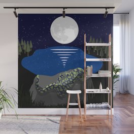 Peace by the Moon Wall Mural