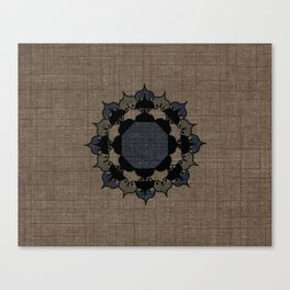 Lotus Mandala on Fabric Canvas Print