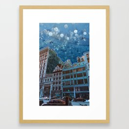 5th Avenue Frost Framed Art Print