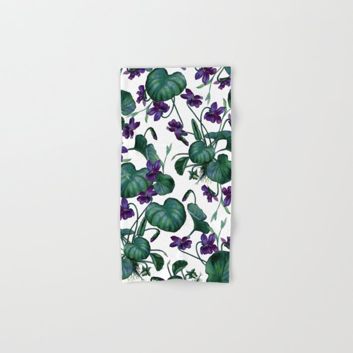 Violets #society6 #decor #buyart Hand & Bath Towel