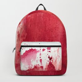 Blushing [3]: a vibrant, minimal abstract in pink, red, rose gold, and blue details Backpack