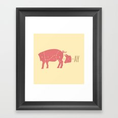 Pig Latin Framed Art Print