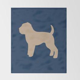 Wheaten Terrier (Navy/Tan) Throw Blanket
