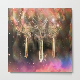 Winged Sword Metal Print