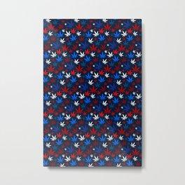 American Weed Pattern Metal Print