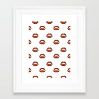 mouth Framed Art Prints featuring Mouth by Eva Martin