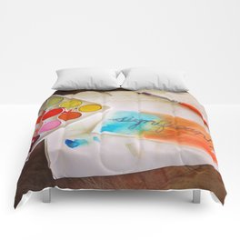 significant watercolor print photo Comforters