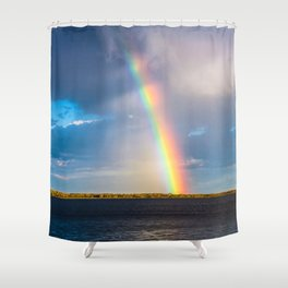 Magnificent rainbow Shower Curtain