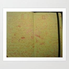 escritura asémica Art Print