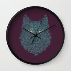 Wolf of Winter Wall Clock