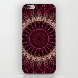 Ruby Mandala iPhone Skin