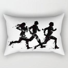 Runners in ink Rectangular Pillow