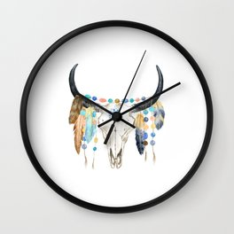 Cow Skull, Wall Clock