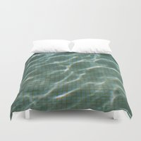 pool Duvet Covers featuring Pool by Marta Bocos