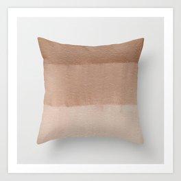 Dusty Rose Ombre Pillow Art Print