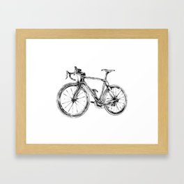 Wooden Bicycle Framed Art Print