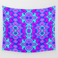wallpaper Wall Tapestries featuring Psychedelic Wallpaper by Kirsten Star