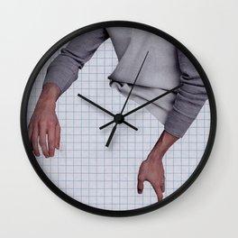 Masculine Hands Wall Clock