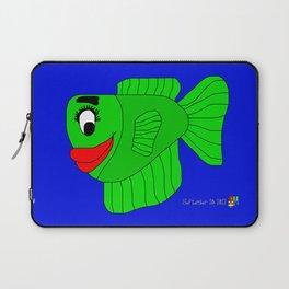 Friendly Green Fish Laptop Sleeve