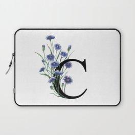 Letter 'C' Cornflower Typography Laptop Sleeve