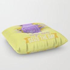Carpe Diem - Sieze the Day [purple] Floor Pillow