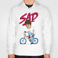 sad Hoodies featuring Sad by Chris Piascik