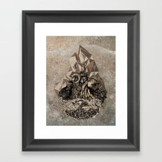 When nature strikes back  Framed Art Print