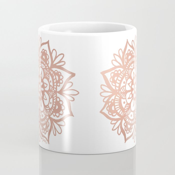 Rose Gold Mandala Coffee Mug