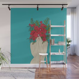 Blooming Red Wall Mural