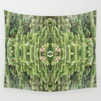 mirror Wall Tapestries featuring CACTUS MIRROR by MODERN UNDERGROUND