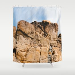 Rocky Landscape  in the coast of Brittany Shower Curtain