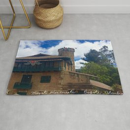 Mount Monserrate at Christmastime Maybe, Bogota, Colombia Rug