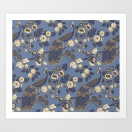 Peacock Garden {Eastern Blue} Art Print