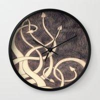 kraken Wall Clocks featuring Kraken by cepheart