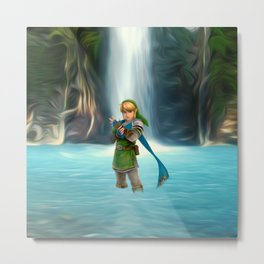 Adventure of Zelda Metal Print