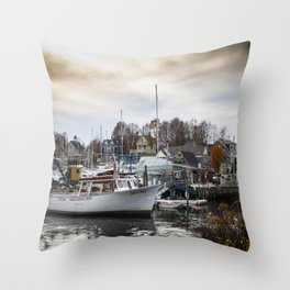 Kennebunkport Habor  Throw Pillow