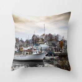 Kennebunkport Habor  Throw Pillow