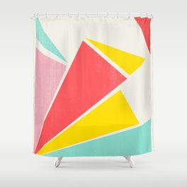 Shattered Rays Shower Curtain