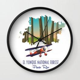 El Yunque National Forest, Puerto Rico Wall Clock