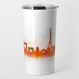 Paris City Skyline Hq v3 Travel Mug