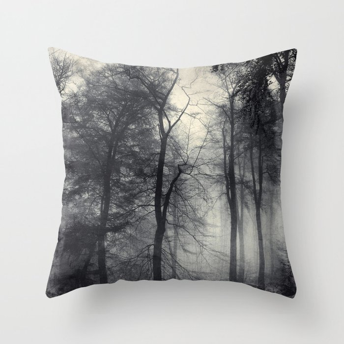 realm of shades - misty forest Throw Pillow