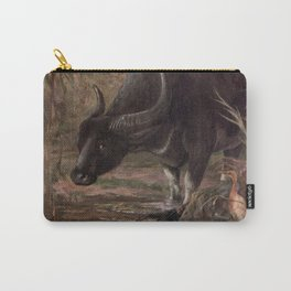 Vintage Water Buffalo Painting (1909) Carry-All Pouch