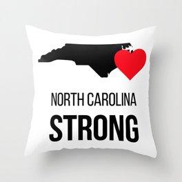 North Carolina strong / Hurricane season Throw Pillow